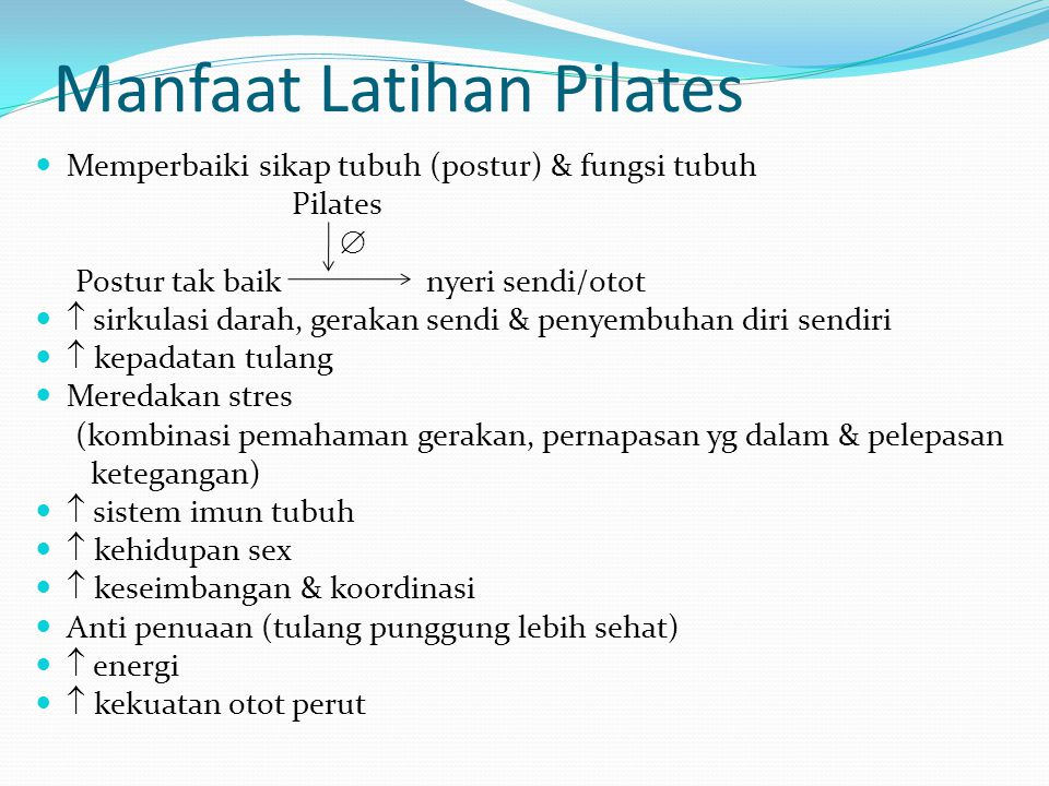 Manfaat Latihan Pilates
