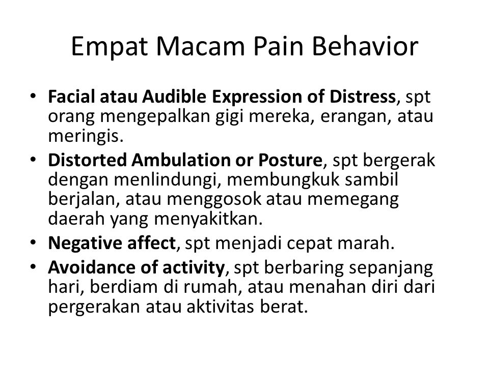 Empat Macam Pain Behavior
