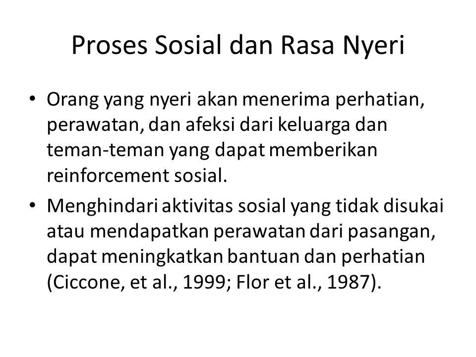 Proses Sosial dan Rasa Nyeri