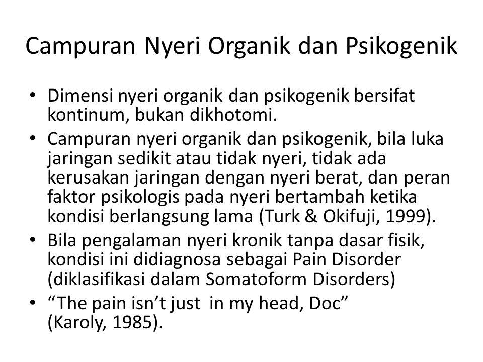 Campuran Nyeri Organik dan Psikogenik