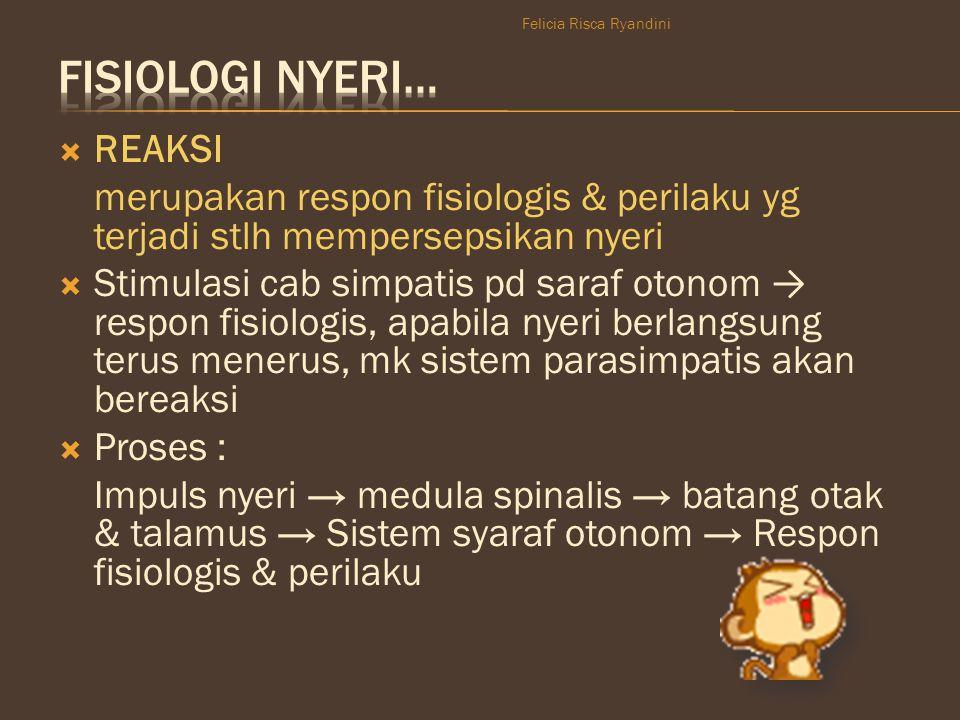 Fisiologi nyeri… REAKSI