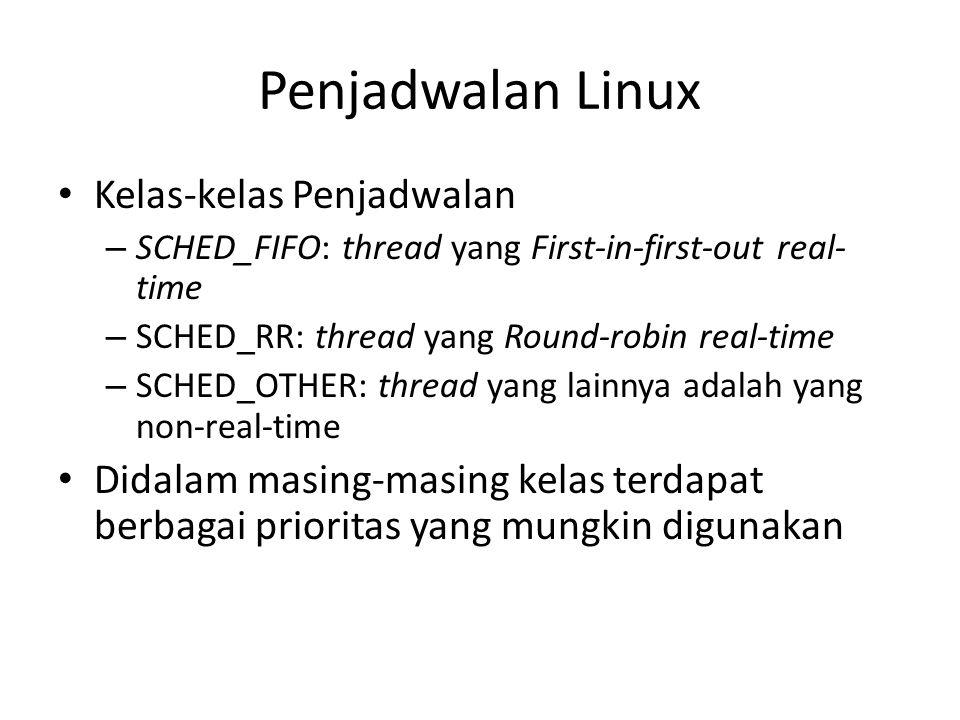 Penjadwalan Linux Kelas-kelas Penjadwalan