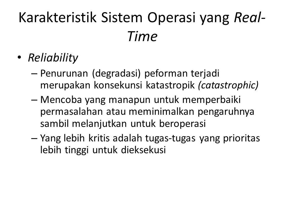 Karakteristik Sistem Operasi yang Real-Time