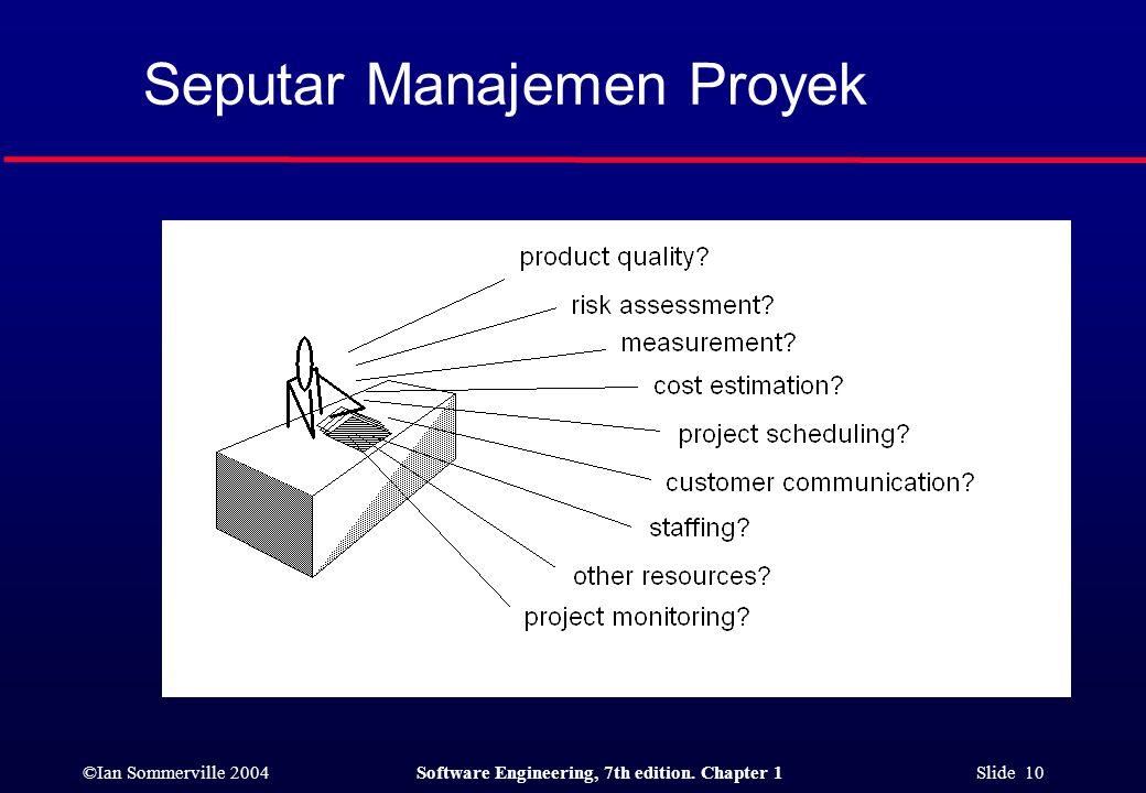 Seputar Manajemen Proyek