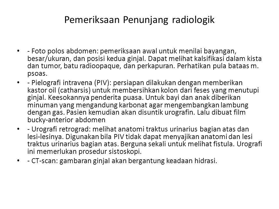Pemeriksaan Penunjang radiologik
