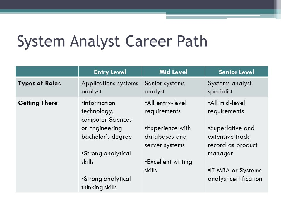 System Analyst Career Path