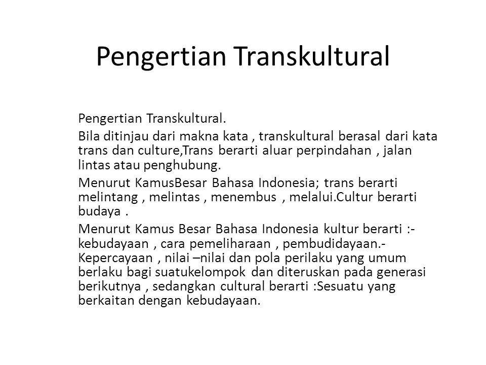 Pengertian Transkultural
