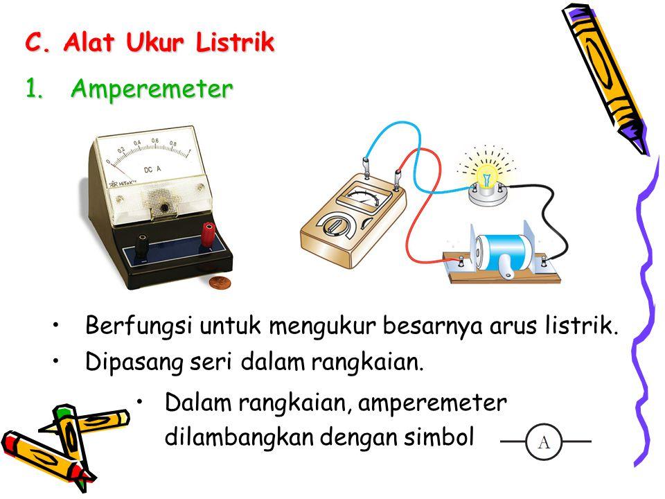 Alat Ukur Listrik Amperemeter