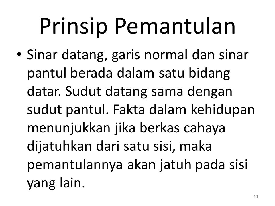 Prinsip Pemantulan
