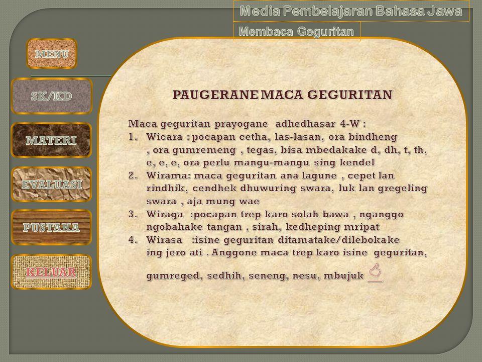 PAUGERANE MACA GEGURITAN Media Pembelajaran Bahasa Jawa