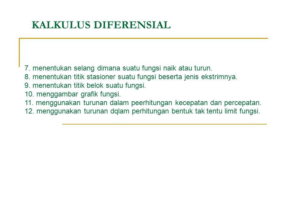 KALKULUS DIFERENSIAL