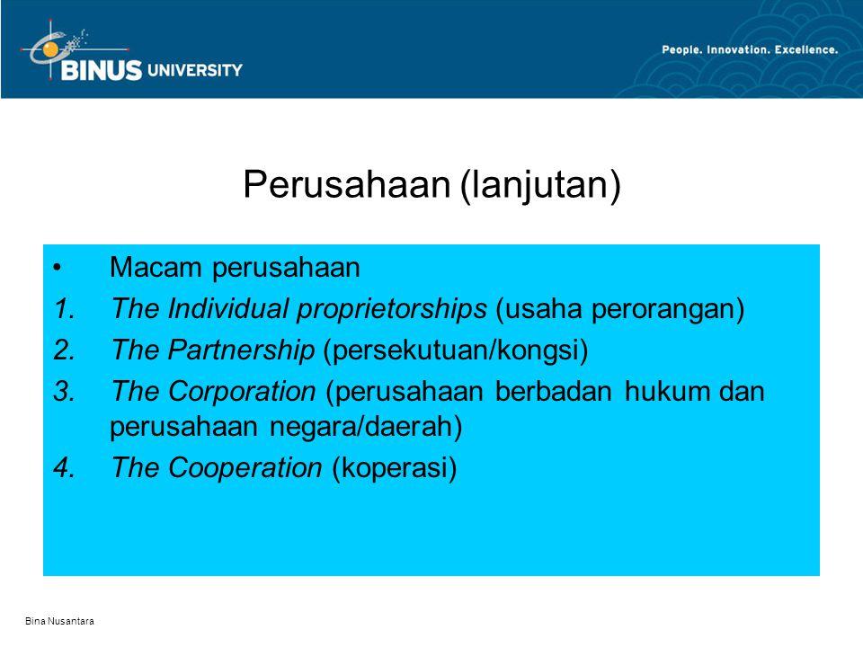 Perusahaan (lanjutan)