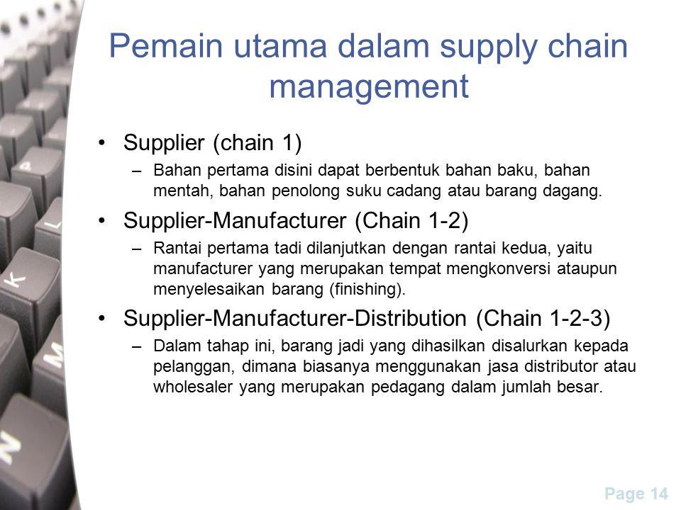Pemain utama dalam supply chain management