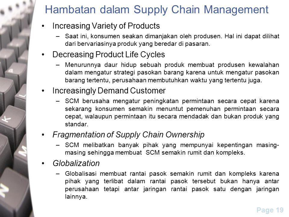 Hambatan dalam Supply Chain Management
