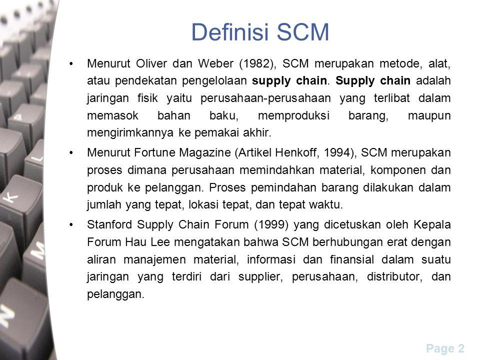 Definisi SCM