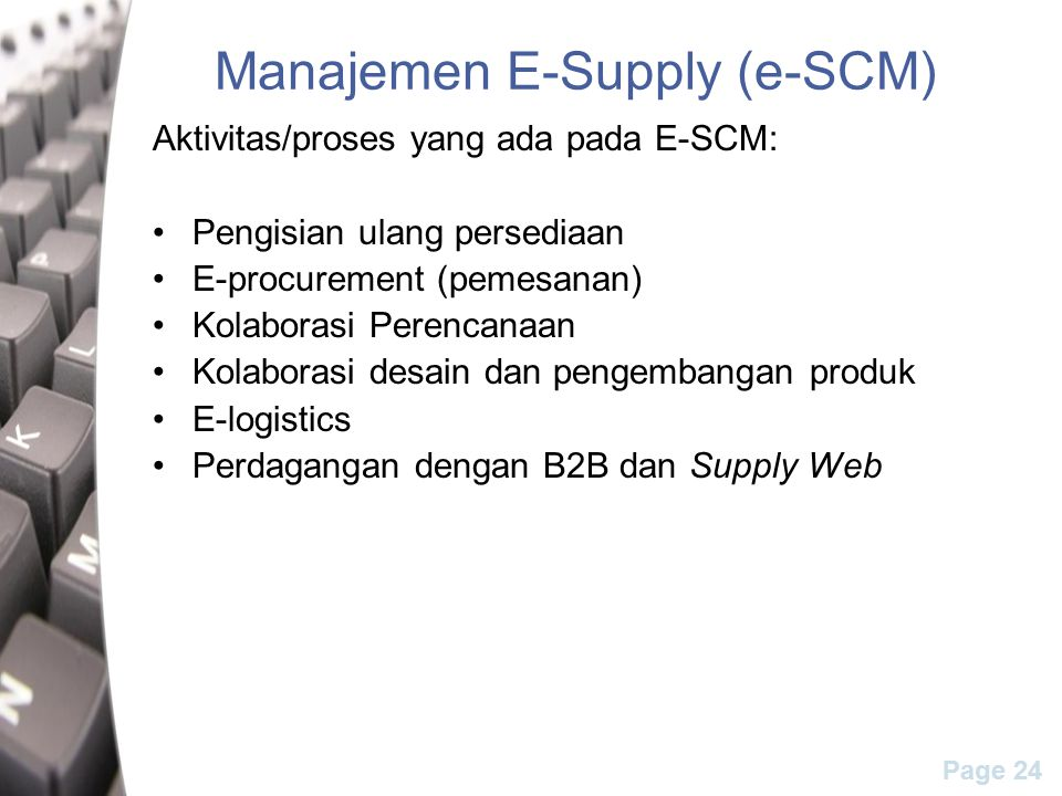 Manajemen E-Supply (e-SCM)