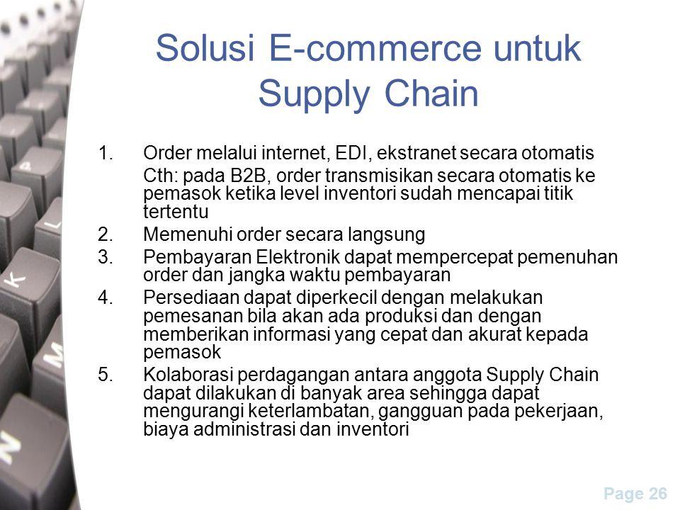 Solusi E-commerce untuk Supply Chain