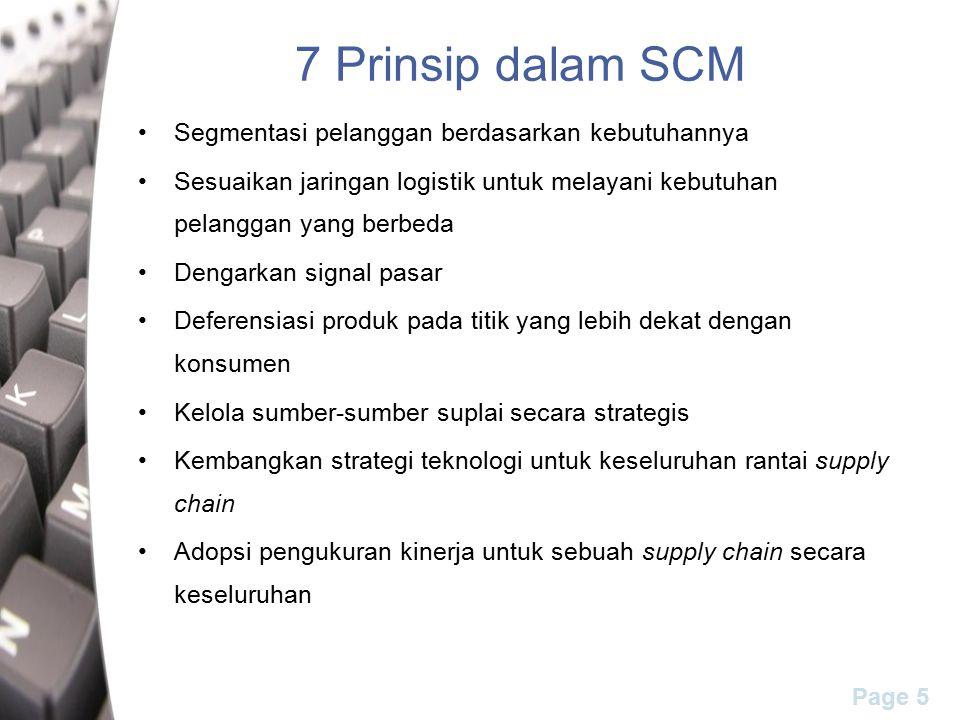 7 Prinsip dalam SCM Segmentasi pelanggan berdasarkan kebutuhannya