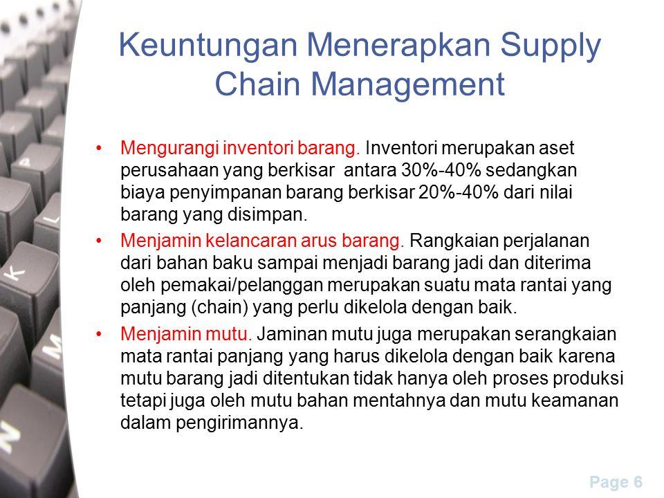 Keuntungan Menerapkan Supply Chain Management