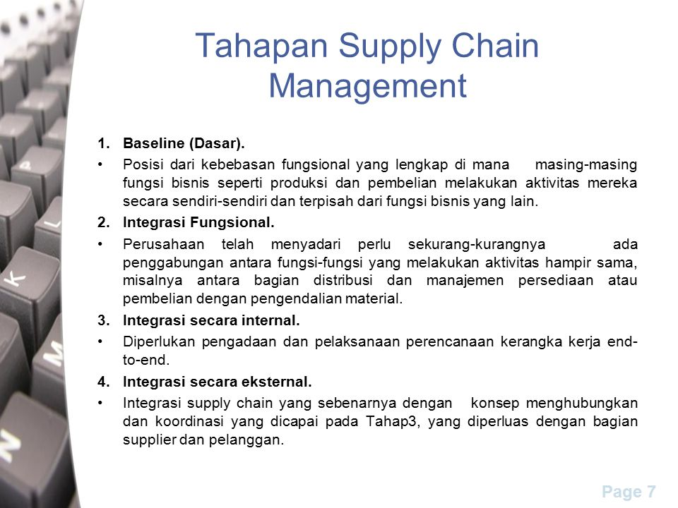 Tahapan Supply Chain Management