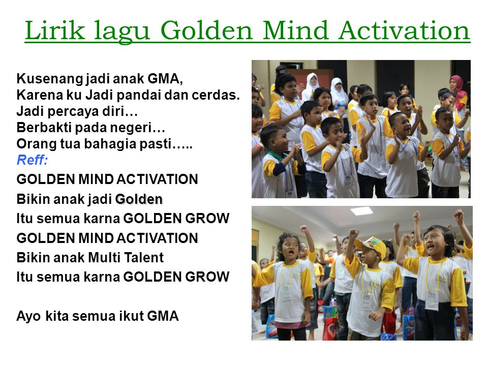 Lirik lagu Golden Mind Activation