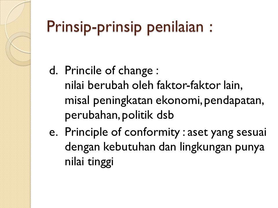 Prinsip-prinsip penilaian :