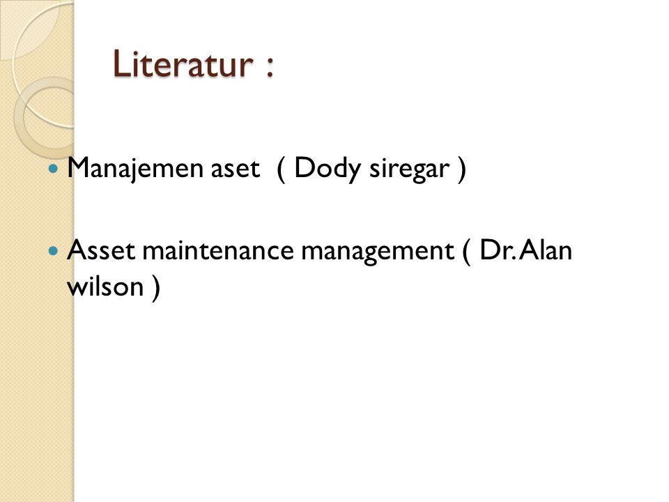 Literatur : Manajemen aset ( Dody siregar )