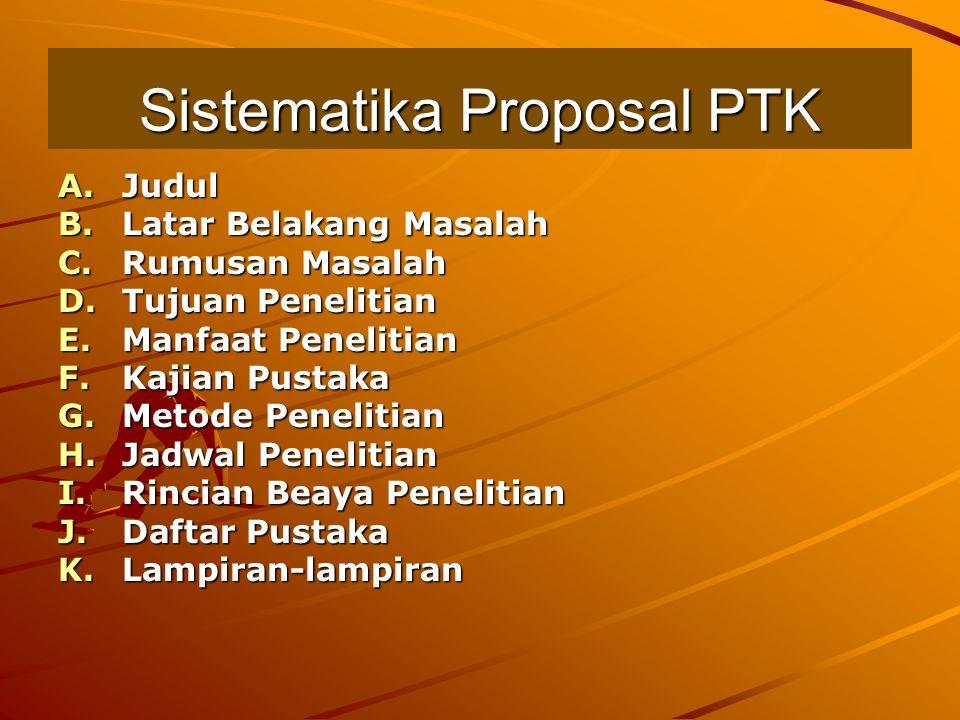 Sistematika Proposal PTK