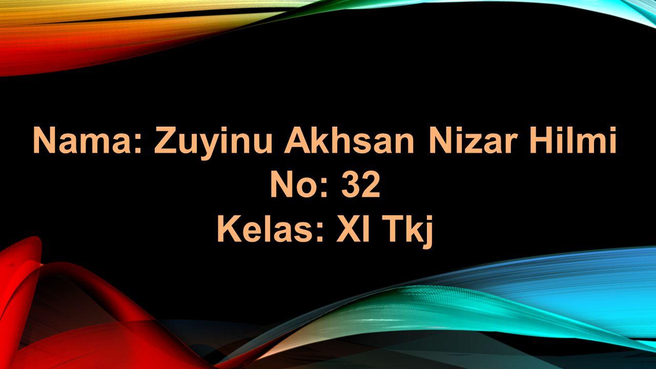 Nama: Zuyinu Akhsan Nizar Hilmi