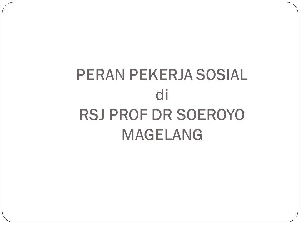 PERAN PEKERJA SOSIAL di RSJ PROF DR SOEROYO MAGELANG