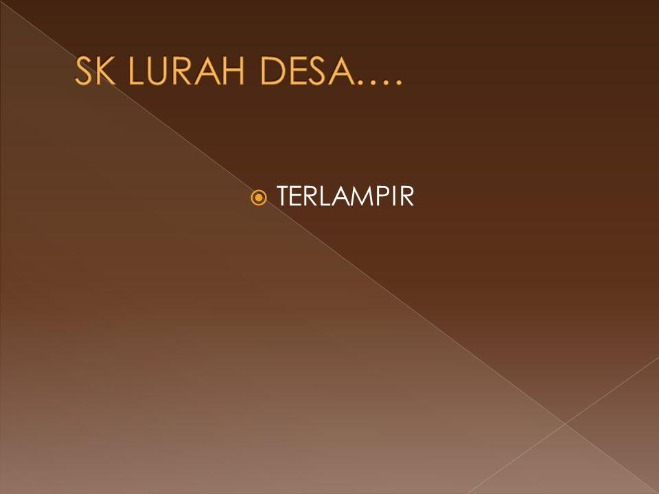 SK LURAH DESA…. TERLAMPIR