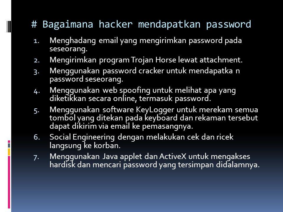 # Bagaimana hacker mendapatkan password
