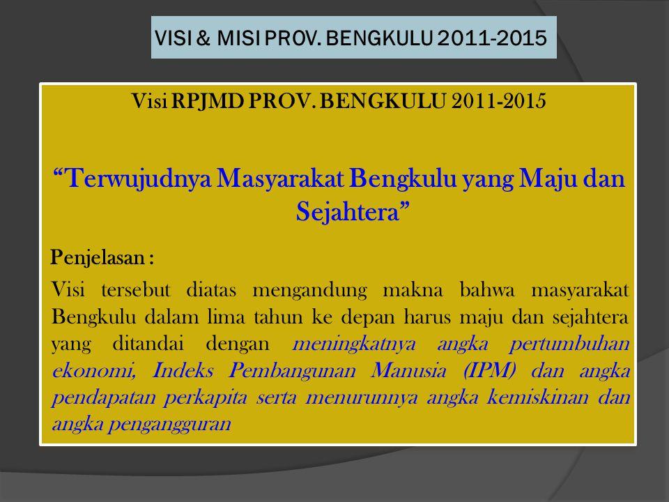 VISI & MISI PROV. BENGKULU 2011-2015