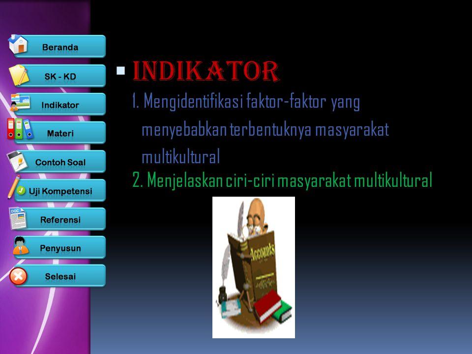 INDIKATOR 1. Mengidentifikasi faktor-faktor yang
