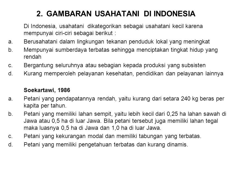 2. GAMBARAN USAHATANI DI INDONESIA