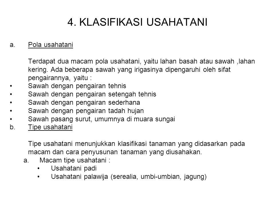 4. KLASIFIKASI USAHATANI