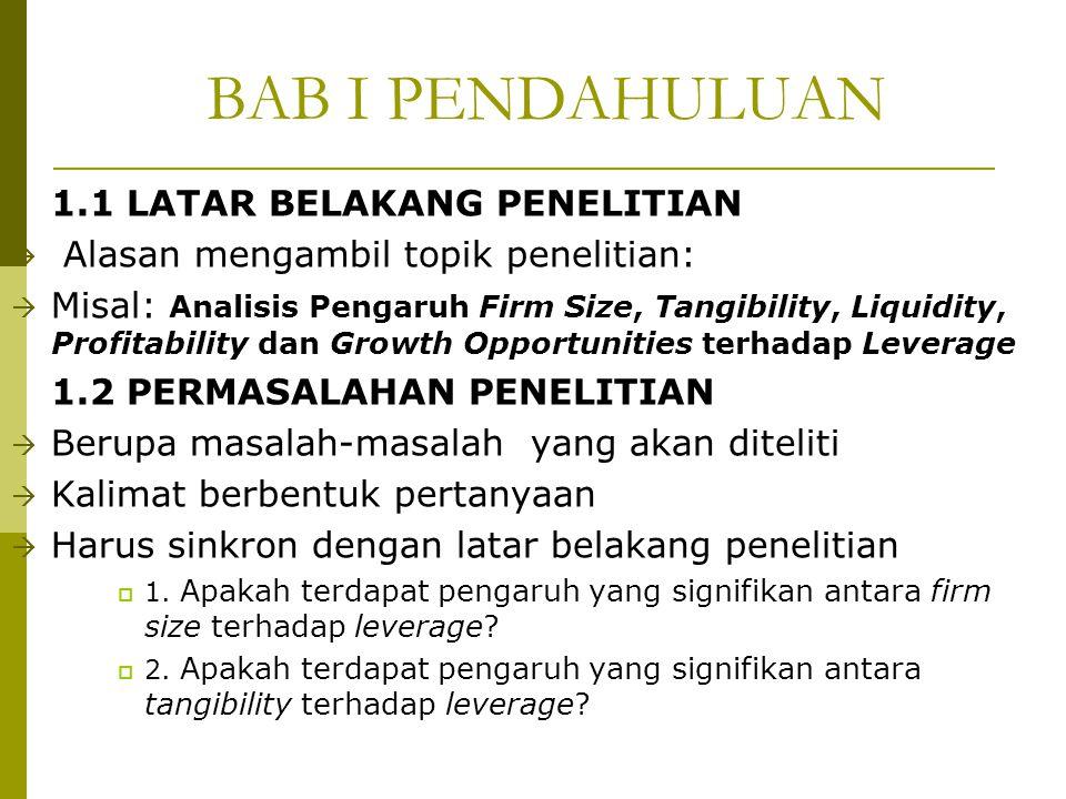 BAB I PENDAHULUAN 1.1 LATAR BELAKANG PENELITIAN