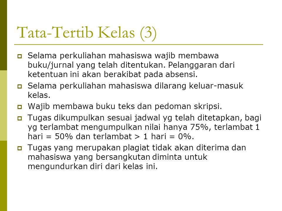 Tata-Tertib Kelas (3)