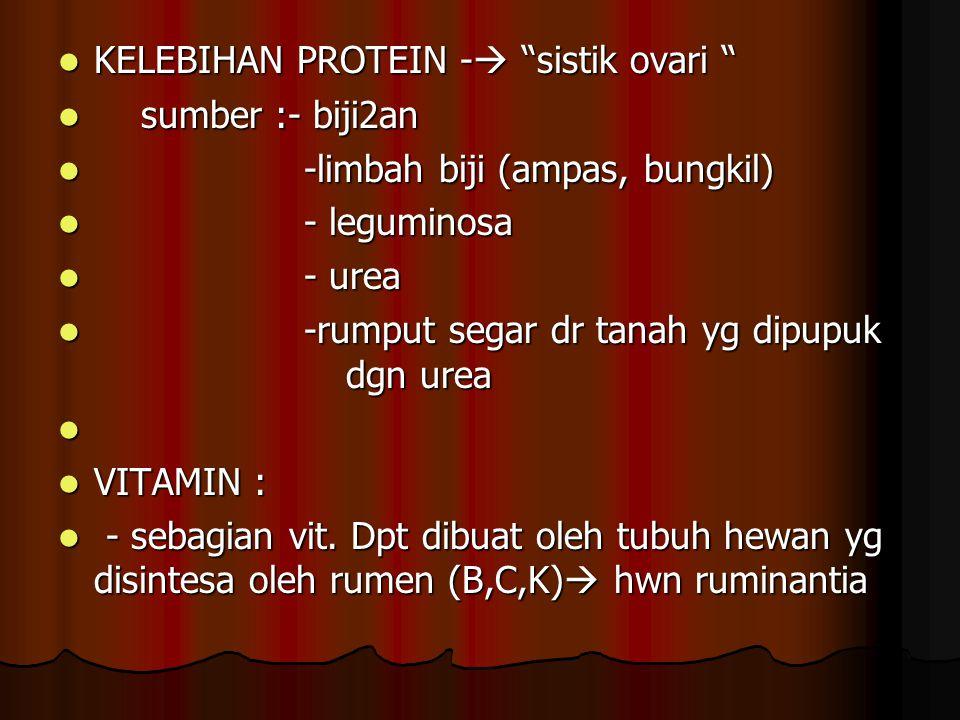 KELEBIHAN PROTEIN - sistik ovari