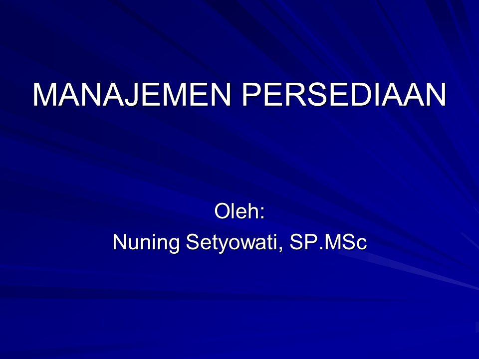 Nuning Setyowati, SP.MSc