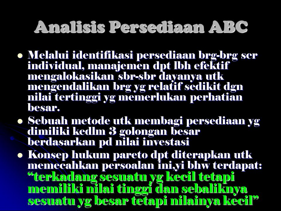 Analisis Persediaan ABC