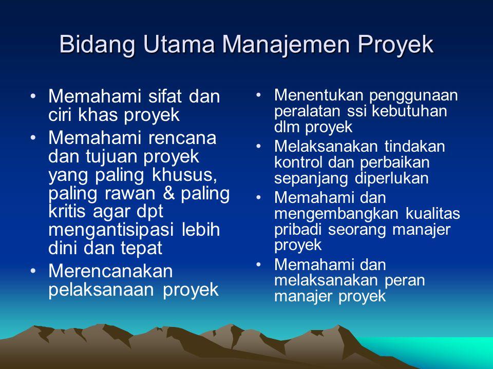 Bidang Utama Manajemen Proyek