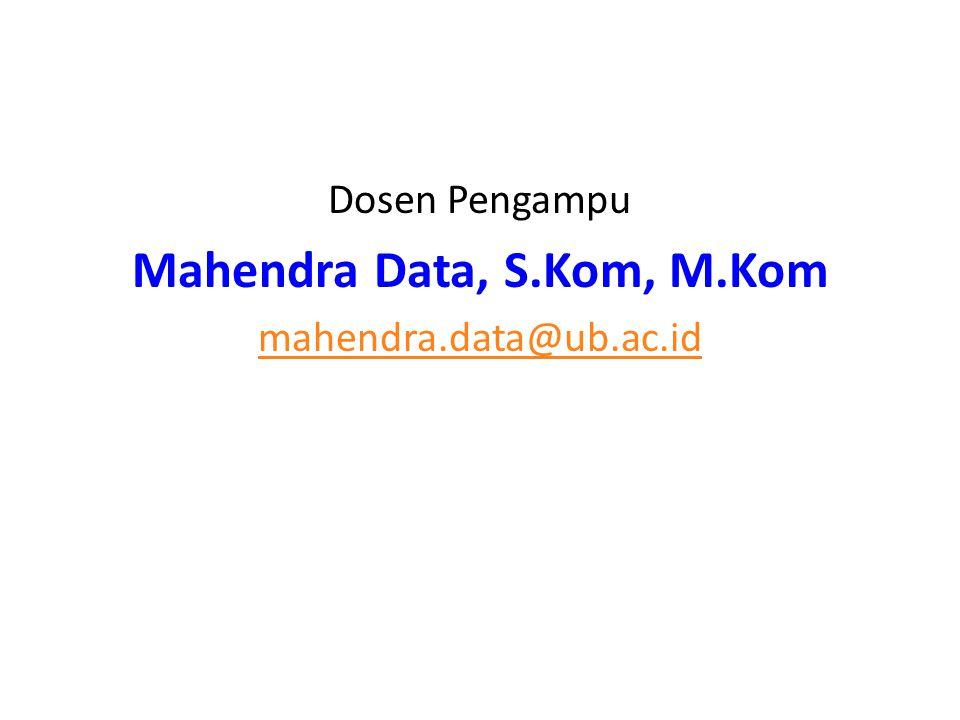Mahendra Data, S.Kom, M.Kom