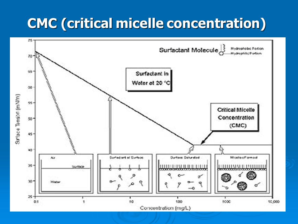 CMC (critical micelle concentration)