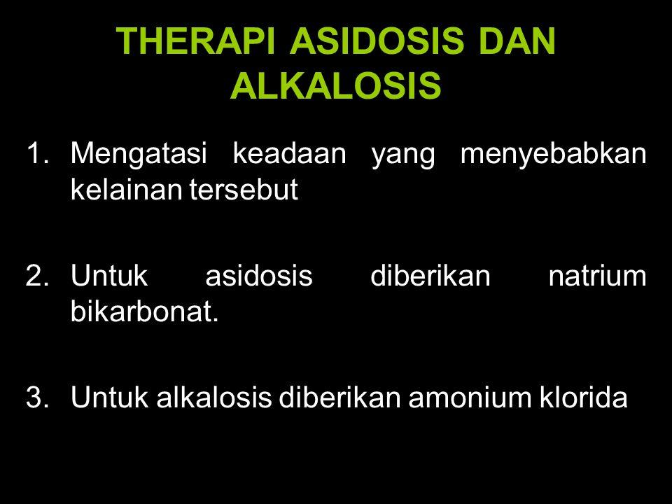 THERAPI ASIDOSIS DAN ALKALOSIS