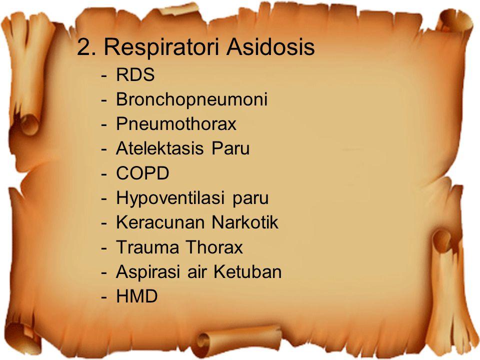 2. Respiratori Asidosis RDS Bronchopneumoni Pneumothorax