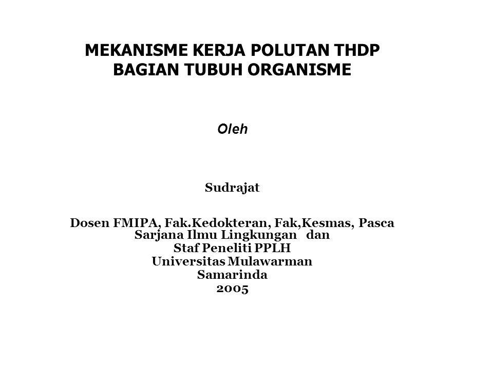 MEKANISME KERJA POLUTAN THDP BAGIAN TUBUH ORGANISME