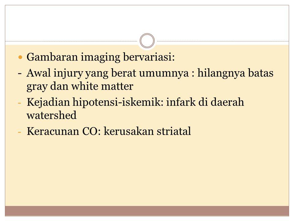 Gambaran imaging bervariasi: