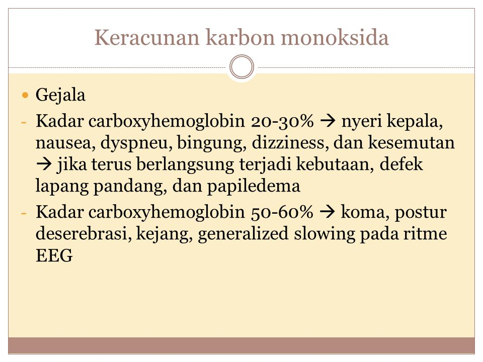 Keracunan karbon monoksida