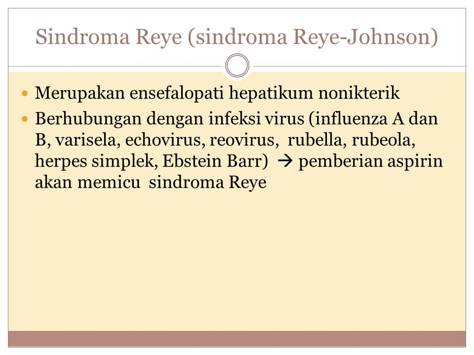 Sindroma Reye (sindroma Reye-Johnson)